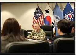 エイブラムス司令官(在韓米軍司令部提供)=(聯合ニュース)≪転載・転用≫