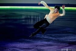 世界フィギュアスケート国別対抗戦、エキシビションに臨む羽生結弦(2021年4月18日撮影)。(c)Philip FONG / AFP