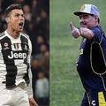 強敵アトレティコを相手にハットトリックをやってのけたC・ロナウド(左)を、マラドーナ(右)はベタ褒めした。 (C) Getty Images