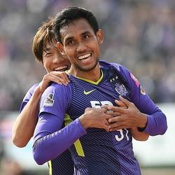 2018年には広島に在籍したティーラシン。1年ぶりのJリーグ復帰となる。写真:徳原隆元