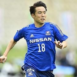 3本目でゴールを奪った水沼。今季、C大阪から横浜に復帰した。写真:金子拓弥(サッカーダイジェスト写真部)