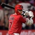 本拠地マリナーズ戦で本塁打含む3安打を放ったエンゼルス・大谷翔平【写真:AP】