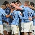 20-21イングランド・プレミアリーグ第18節、マンチェスター・シティ対ブライトン・アンド・ホーヴ・アルビオンFC。ゴールを喜ぶマンチェスター・シティの選手(2021年1月13日撮影)。(c)Clive Brunskill / POOL / AFP