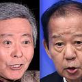 左から小倉智昭、二階俊博幹事長