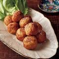 【材料2つだけ】おろしれんこんでふわふわ『揚げ団子』のレシピ