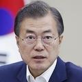 2018年6月14日、NSC全体会議で発言する文在寅氏(韓国大統領府提供)