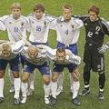 日韓W杯の初戦・ベルギー戦のスターティングイレブン。森岡(4番)は主将としてピッチに立った。(C) Getty Images
