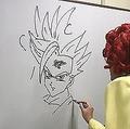 適当に書かれた線がキャラクターに…野沢雅子芸人の特技が話題