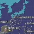 強い台風20号・21号ともに北上へ