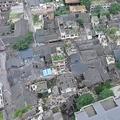 空から見た震源地 四川省宜賓市長寧県