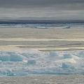 カナダ沖の北極圏の海を覆い始めた流氷(2015年9月23日撮影、資料写真)。(c)Clement Sabourin / AFP