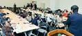 (写真)医学部の入試差別や背景にある医師の過重労働をなくそうと開かれた集会=27日、参院議員会館