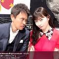 浜田雅功と渡辺美優紀(画像は『Miyuki Watanabe 2019年3月21日付Twitter「いつも優しい浜田さんと」』のスクリーンショット)