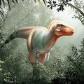 ティラノサウルス・レックスと近縁関係にある新種の恐竜(学名:Thanatotheristes degrootorum)の想像図。カナダ・カルガリー大学、ロイヤル・ティレル古生物学博物館提供(2020年2月10日提供)。(c)AFP PHOTO / University of Calgary and Royal Tyrrell Museum / Julius CSOTONYI