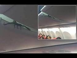 ライオン・エア機内の荷物棚の中からサソリ!(画像は『Viral Press 2019年2月15日公開YouTube「Passengers Find Live SCORPION On Plane」』のサムネイル)
