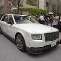 報道陣も騒然! 豊田章男社長が乗り込んだのは世界に1台だけのトヨタ・センチュリーGRMN!