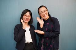 (写真左から)たかまつなな、『たんぽぽ』白鳥久美子