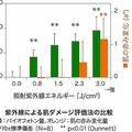 紫外線による肌ダメージ評価法の比較(花王発表資料より)