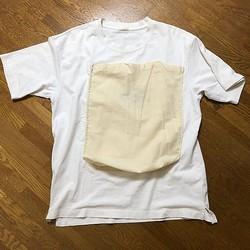 エコバッグを持ち歩くのが面倒なら、Tシャツに縫いつければいいじゃない(提供)