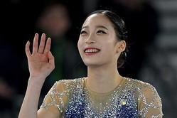 優勝したユ・ヨンを祝福したのは…【写真:Getty Images】