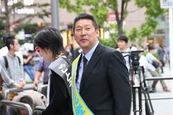 「NHKから国民を守る党」の立花孝志代表(2017年撮影)。統一地方選の後半戦では議席を伸ばした