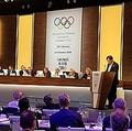 IOC総会で最終報告を行う李熙範委員長(平昌冬季五輪組織委員会提供)=(聯合ニュース)