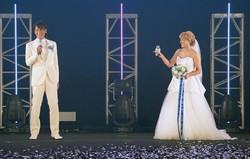 結婚を発表した本並健治氏(左)と丸山桂里奈(C)マイナビ TGC 2020 A/W ONLINE