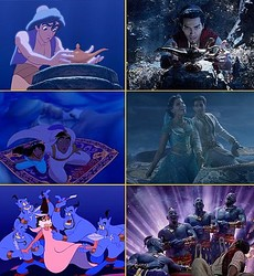 名シーンの数々を比較  - (C) 2019 Disney Enterprises, Inc. All Rights Reserved.