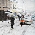 都心でもまだ残雪が残っている場所も