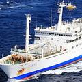 1997年に就航した2代目「おがさわら丸」(画像:小笠原海運)。