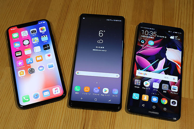 iPhone � vs Galaxy Note8 vs HUAWEI Mate 10 Pro、最強スマホはどれだ?