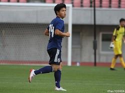 U-17日本代表MF中野桂太(京都U-18)は決勝点を決めた