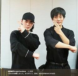 ラジオで共演した菅田将暉と松坂桃李(画像は『松坂桃李 2018年1月30日付Twitter「今日はお邪魔しました。ありがとう。菅田。」』のスクリーンショット)