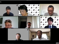 オンラインブリーフィングの出席者(会議アプリ『Zoom』のスクリーンショット)