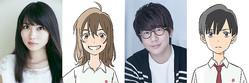 声優を務める志田未来、花江夏樹とキャラクタービジュアル © 2020「泣きたい私は猫をかぶる」製作委員会
