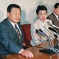 橋本聖子氏の初出馬会見には森氏が同席(写真は1995年参院選、時事通信フォト)