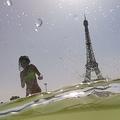 仏パリのトロカデロ庭園の噴水で涼む人々(2019年7月25日撮影、資料写真)。(c)Dominique FAGET / AFP