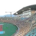 天皇杯3回戦が行われた8月14日の富山県総合運動公園陸上競技場の客席。空席が目立つ(撮影者より提供)