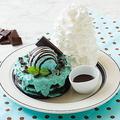 エッグスンシングス原宿店限定「チョコミントパンケーキ」チョコミントアイス×チョコクッキー