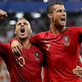 ポルトガル代表として共闘したクアレスマとC・ロナウド(※写真は2018年のもの)【写真:Getty Images】