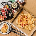 カルビーのポテトチップス「ピザポテト」を再現したピザ3種、ディーゼルのグロリアスチェーンカフェより