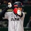OSAKA, JAPAN - MARCH 10: Infielder Munetaka Murakami #55 of Japan at bat in the bottom of 1st inning during the game two between Japan and Mexico at Kyocera Dome Osaka on March 10, 2019 in Osaka, Japan. (Photo by Masterpress - Samurai Japan/SAMURAI JAPAN via Getty Images)