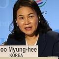 WTOの一般理事会で演説後、会見を行う兪氏=16日、ジュネーブ(聯合ニュース)