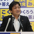 定例会見で「うどん論争」について語る国民民主党の玉木雄一郎代表