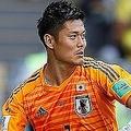直接FKでわずかに反応が遅れ、川島は無念の失点を食らった。(C)Getty Images