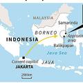 インドネシアの新首都に選定された地域を示した図。(c)AFP=時事/AFPBB News