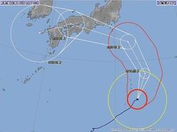 台風12号の進路予想図(気象庁より)