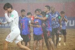 準決勝は暴風雨で視界不良の状況下での試合となった日本代表。3−3で突入したPK戦は、1−2で敗戦となった。