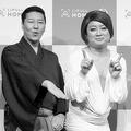 今年1月、住宅情報サイトのCM発表会に出席した『チョコプラ』長田庄平(左)と松尾駿(中)