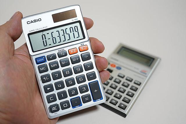 カシオのゲーム電卓SL-880を旧MG-880と比較 ゲームは忠実、メロディーモードが残念